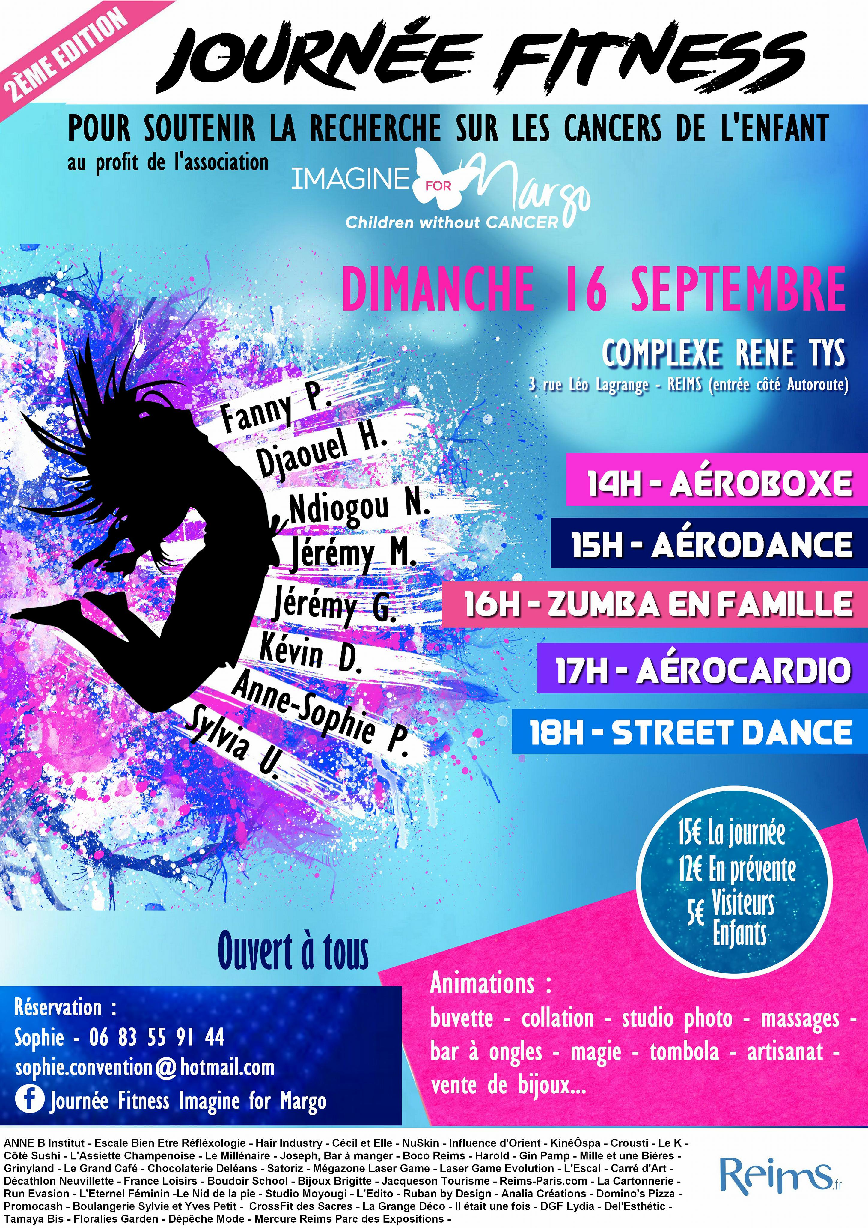 Journée Fitness à Reims au profit d'Imagine for Margo grâce àSophie et au soutien de la ville