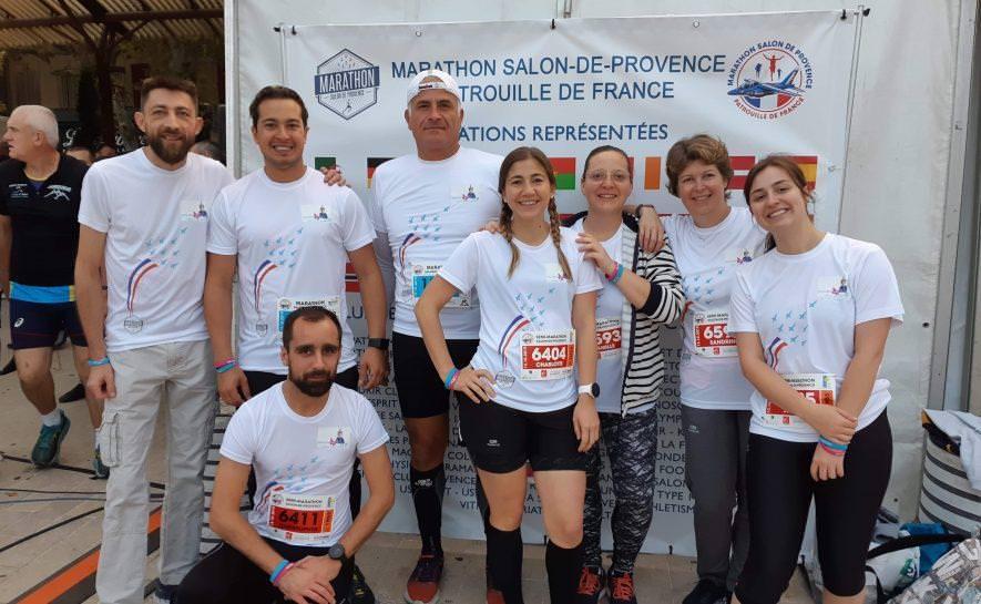 Nos coureurs solidaires au marathon de Salon de Provence