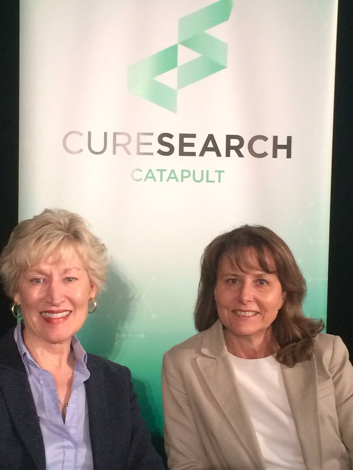 Laura Thrall CEO CureSearch et Patricia Blanc