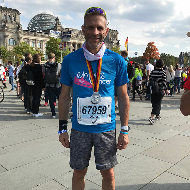 dossards solidaires au profit d'Imagine for Margo pour le marathon de Berlin