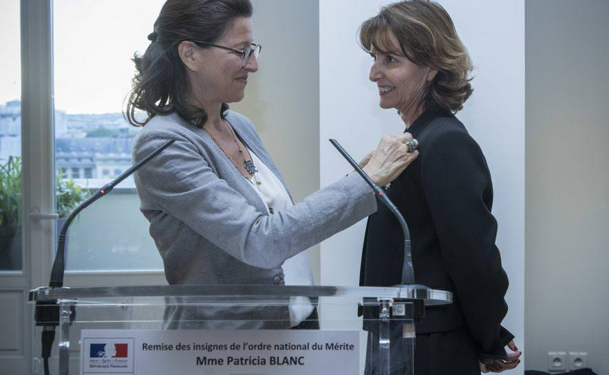 Patricia Blanc receives the French National Order of Merit