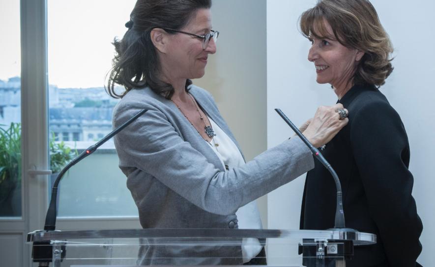 Patricia Blanc est promue Chevalier de l'Ordre national du Mérite par Agnès Buzyn