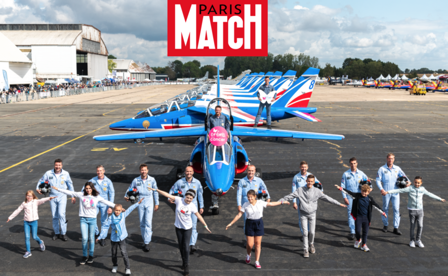 Paris Match : La Patrouille du coeur, marraine d'Imagine for Margo