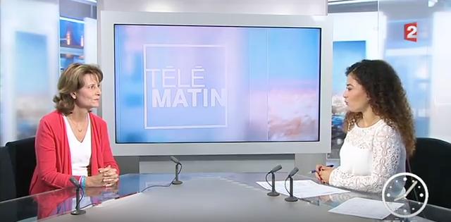 FRANCE 2 – 17 Septembre 2016 – Interview de Patricia Blanc dans Télé Matin