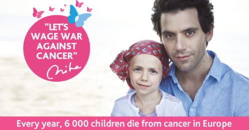 awarness campaign against childhood cancer with Mika