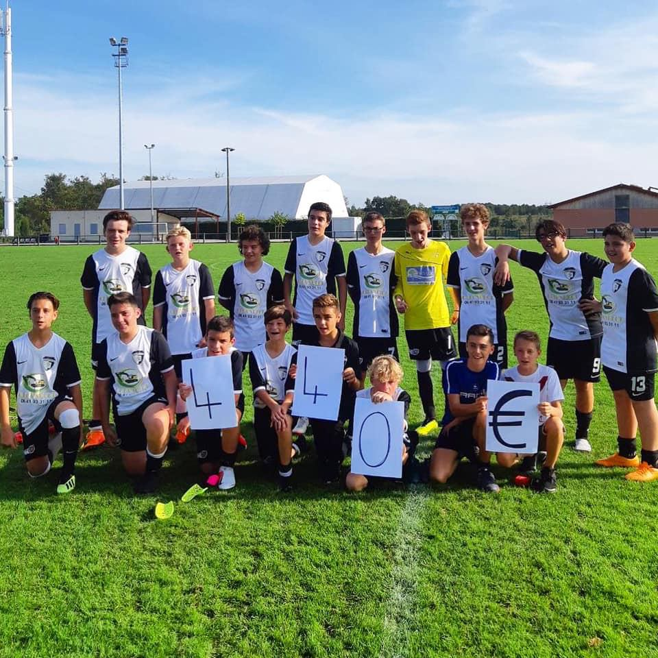 Le club de football Montesquieu FC se mobilise contre le cancer des enfants