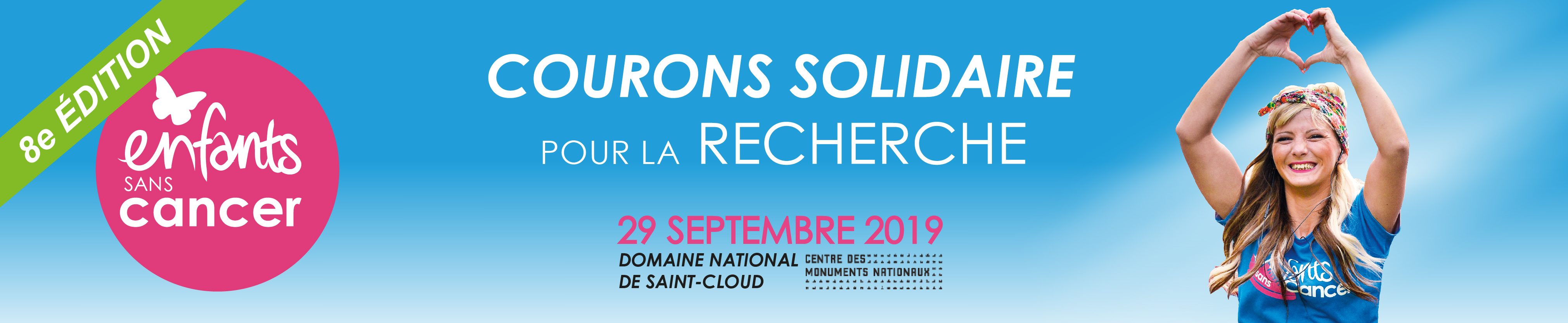 Course Enfants sans Cancer le 29 septembre 2019 au Domaine National de Saint-Cloud