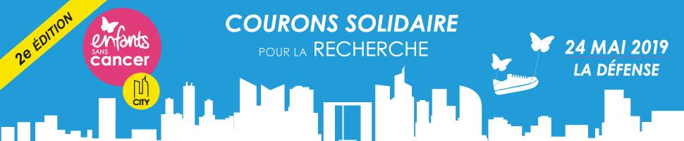 course solidaire Enfants sans Cancer City le 24 mai 2019 sur le parvis de la Défense pour lutter contre le cancer des enfants
