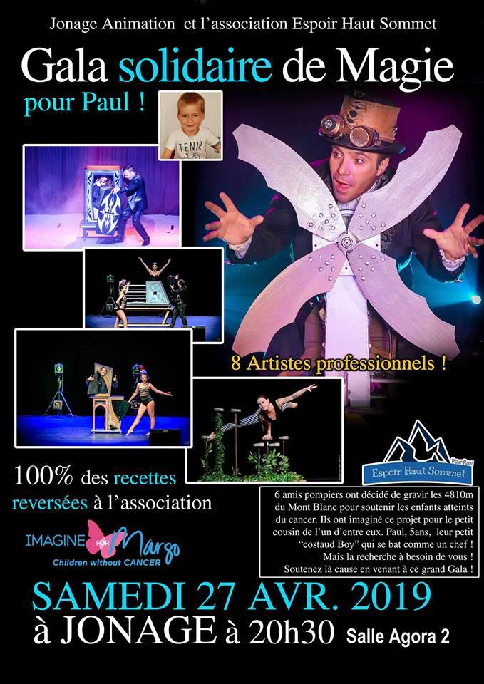 gala de magie organisé par Espoir haut sommet en soutien à notre association et plus particulièrement à Paul, 4 ans, atteint d'un cancer