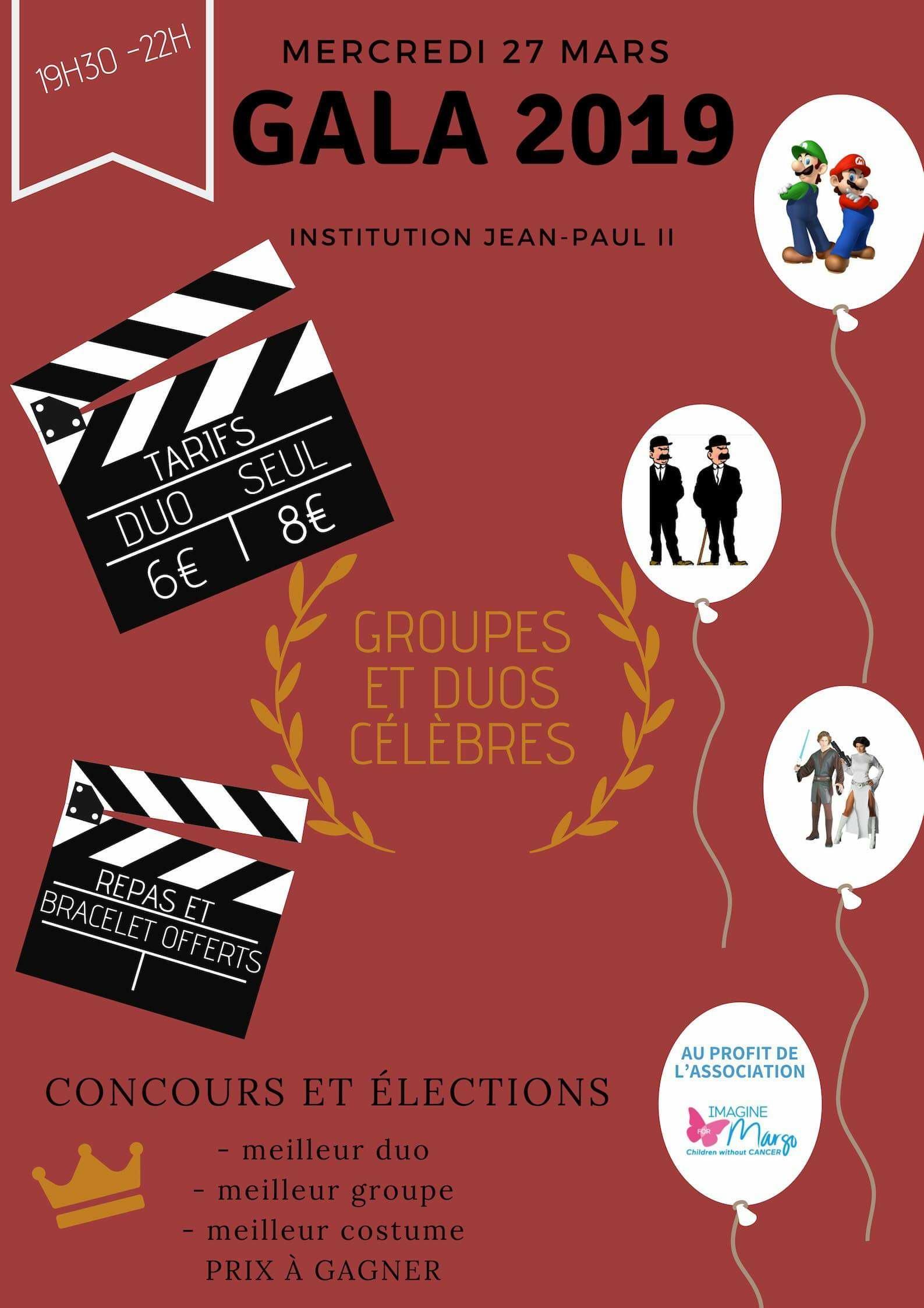 gala institution jean paul II rouen au profit d'Imagine for Margo