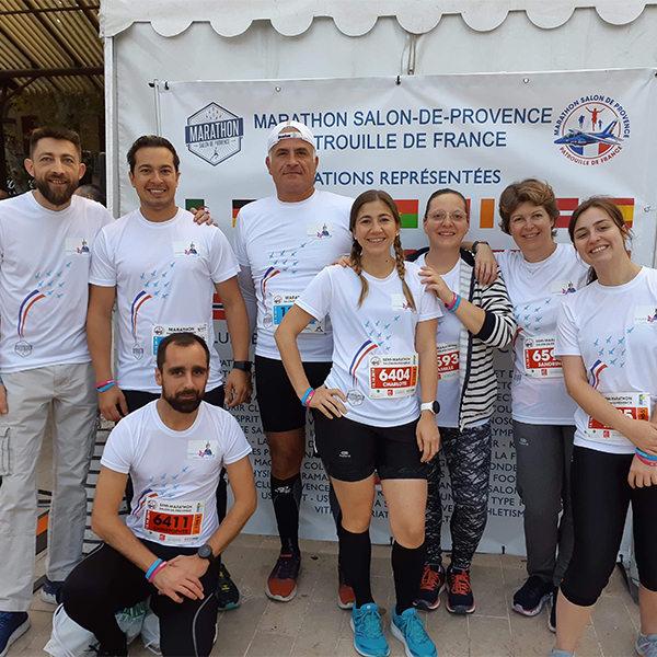 nos coureurs solidaires ont porté nos couleurs au marathon de salon de provence