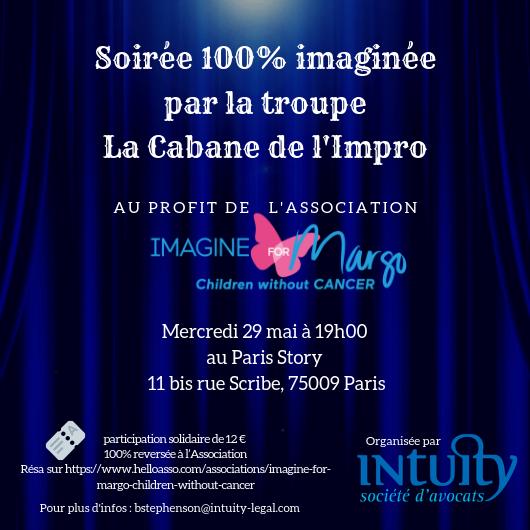 soirée d'impro pour Imagine for Margo au théâtre paris Story