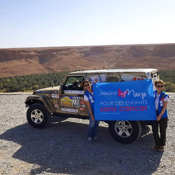 rallye aicha des gazelles 2019 équipe Imagine for Margo pour des Enfants sans Cancer
