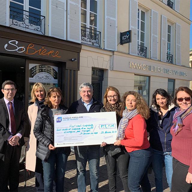 opération des commerçants de Saint-Germain-en-Laye au profit d'Imagine for Margo pour lutter contre le cancer des enfants