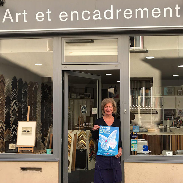 operation des commerçants de Saint-Germain-en-Laye au profit d'Imagine for Margo pour lutter contre le cancer des enfants