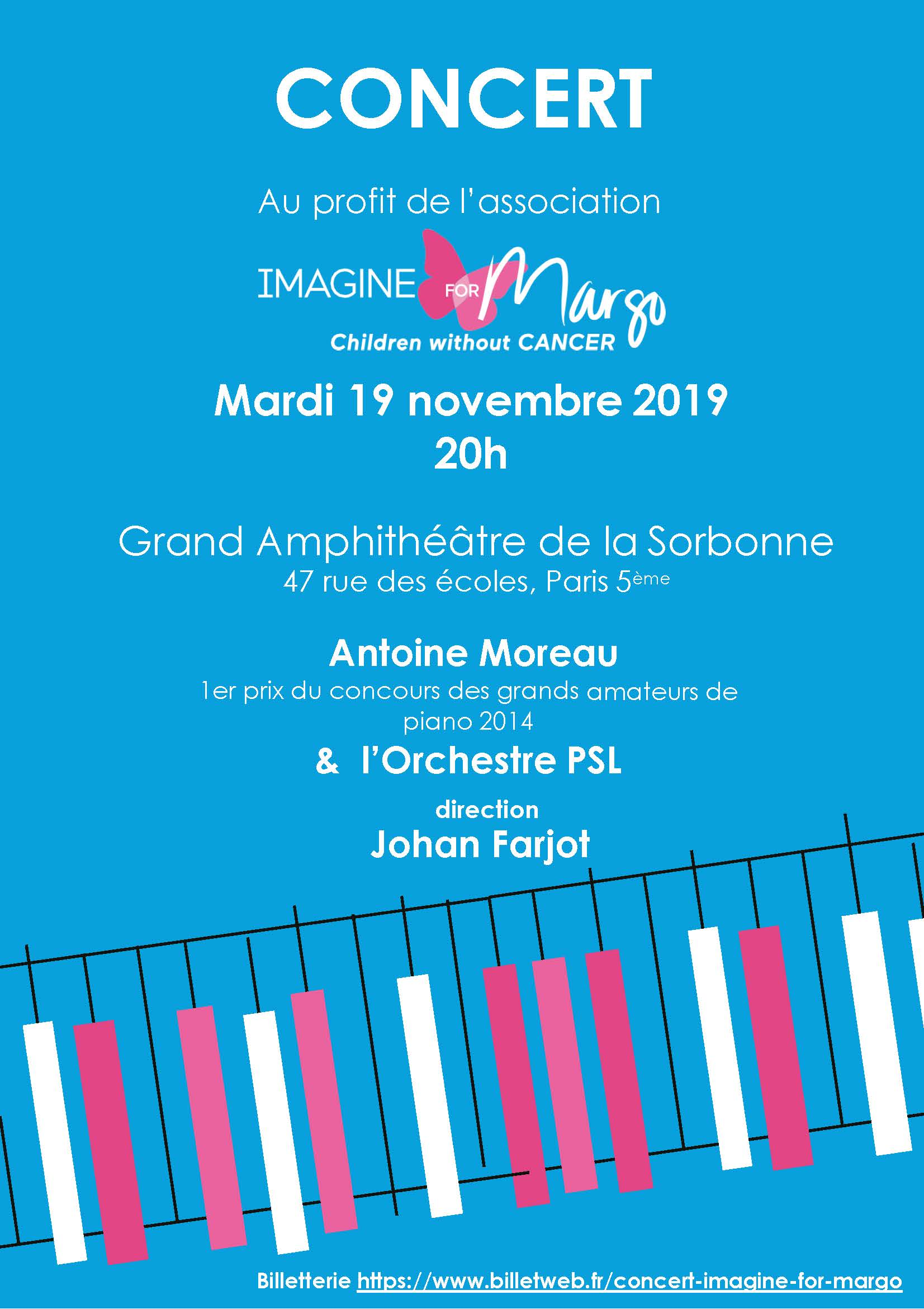 concert Antoine Moreau à la Sorbonne au profit d'Imagine for Margo