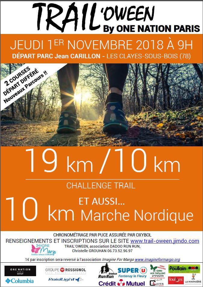 trail'oween 2018 organisé par l'association Dadoo run run et au prfit d'Imagien for Margo