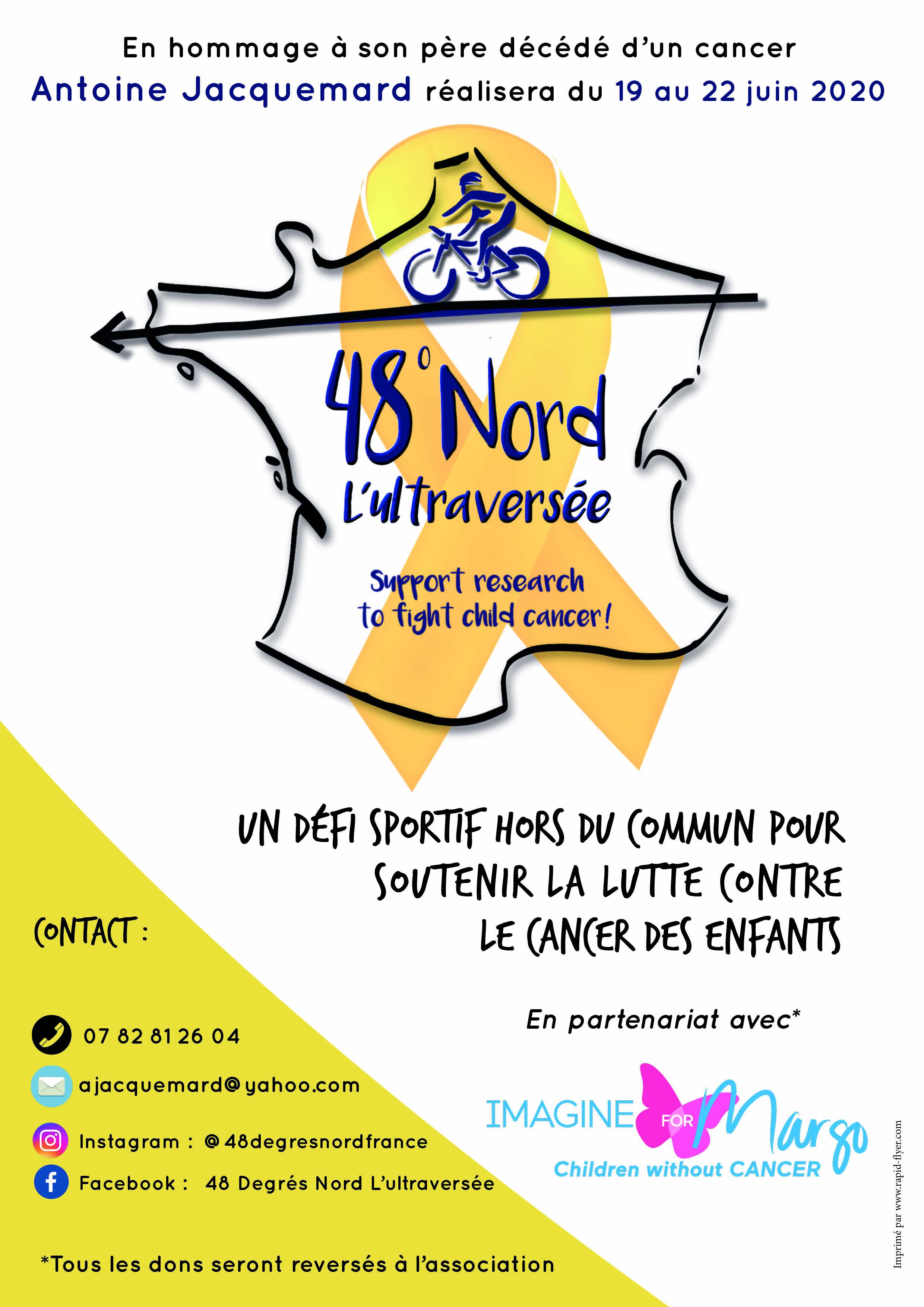 l'ultraversée en vélo : le défi d'Antoine pour soutenir Imagine for Margo dans la lutte contre le cancer des enfants