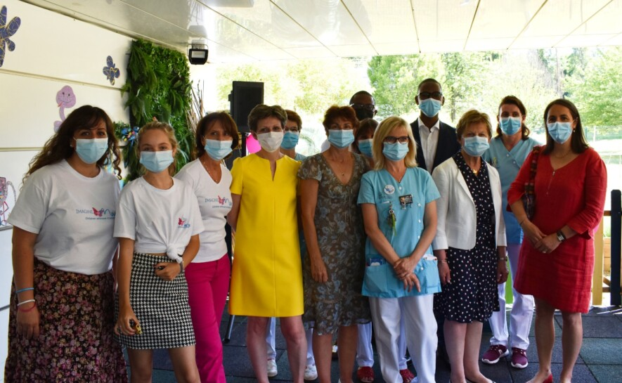 Inauguration à l'hôpital de Mantes-la-Jolie
